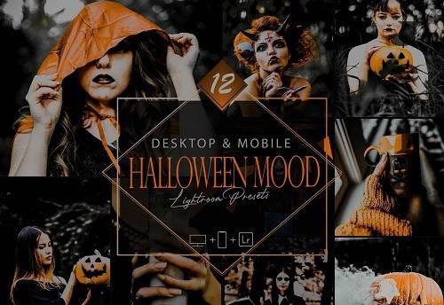 12 Halloween Mood Lightroom Presets, Smooky Mobile Preset - 1079131591