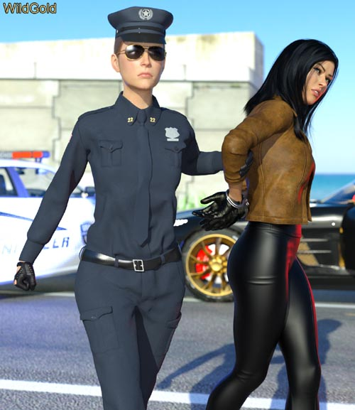 Handcuffed Pose Pack for Genesis 8 and 8.1 Females
