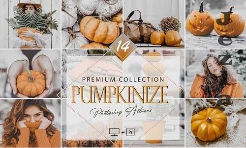 14 Pumpkinize Photoshop Actions, Autumn ACR Preset - 1064925621
