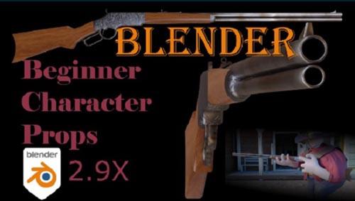 Skillshare - Blender Beginner: Your first Western Style Rifle