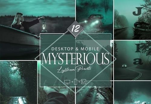 12 Dark Mysterious Lightroom Presets, Green Mobile Preset - 1065490739