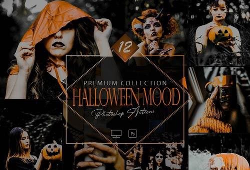12 Halloween Mood Photoshop Actions, Dark Smooky ACR Preset, Moody Horror Filter - 1065186240