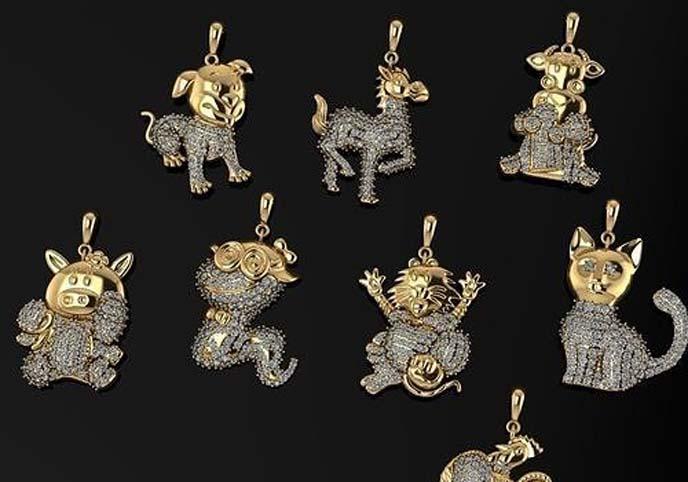 3dm stl necklace gold silver Jewelery