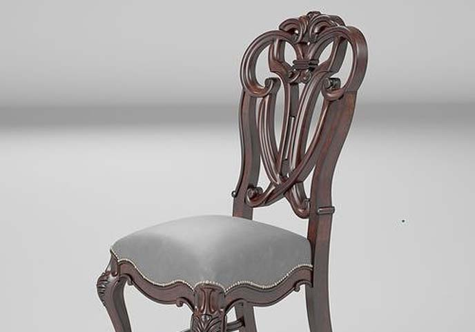 Dining Side Chair 003 render ready vray