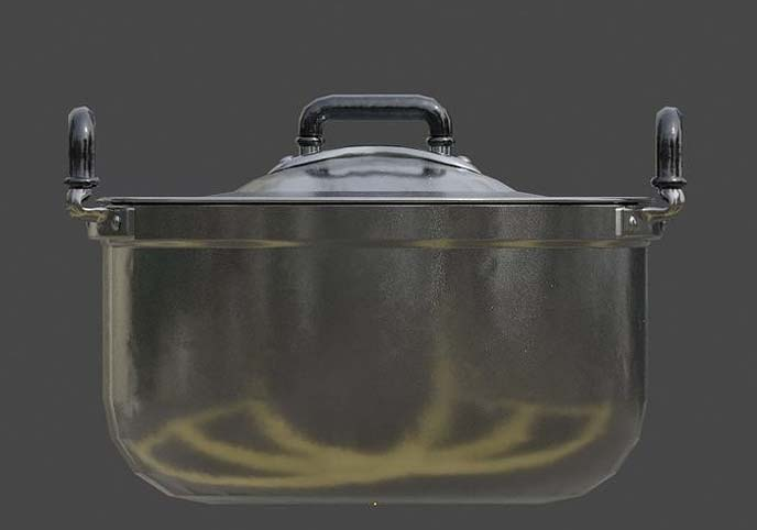Vintage stainless cooking pot