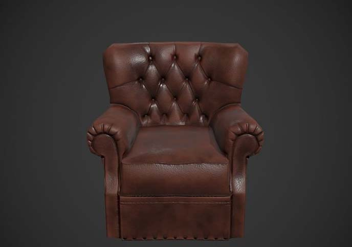 Armchair Free low-poly