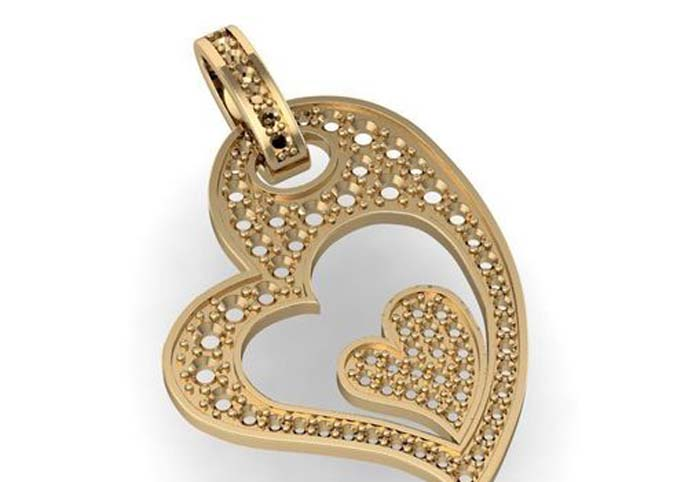 Beautiful pendant with heart