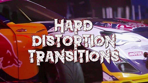 Hard Distortion Transitions - Premiere Pro Presets
