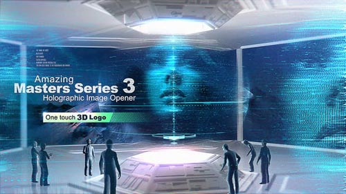 Videohive - Amazing Masters Series 3 - Holographic Image Opener - 26832149