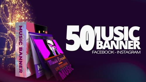 Videohive - 50 Music Banners Ad - 31880883