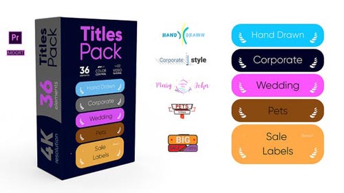 Videohive - Titles Pack 4K - 31865365