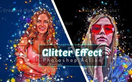 Glitter Effect Photoshop Action - 6493383