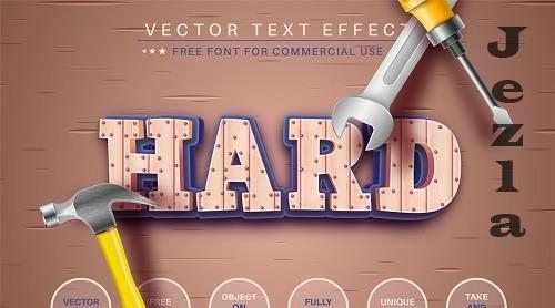 Work - Editable Text Effect - 6491510