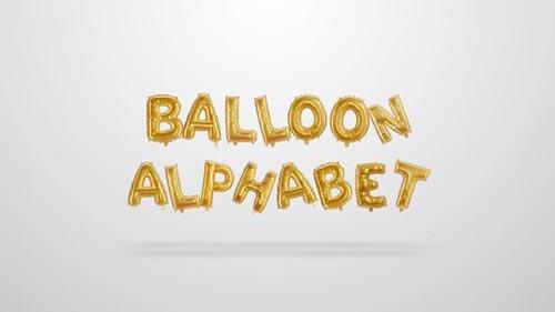 Videohive - Ballons Alphabet - 31906327