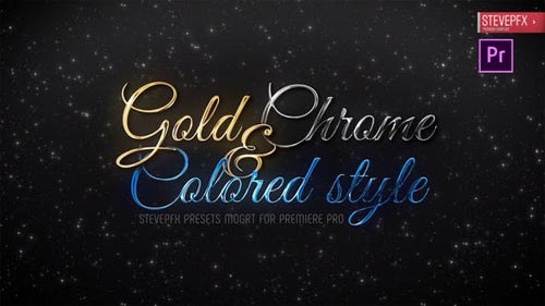 Videohive - Gold Chrome Colored Steel Titles - 24647949