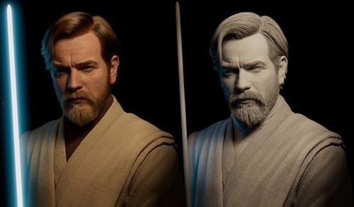 Artstation - Obi Wan Kenobi Realistic Cg Character by Adam O'Donnell
