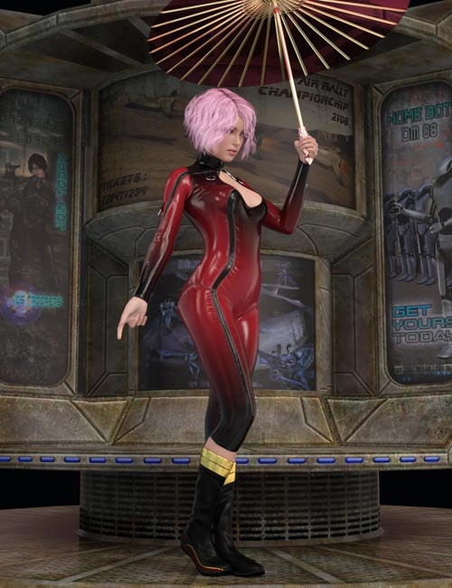 Umbrella Poses For Genesis 8 Female