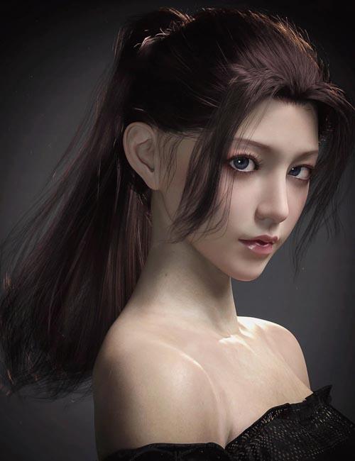 Hotba Hair for Genesis 8 and 8.1 Females