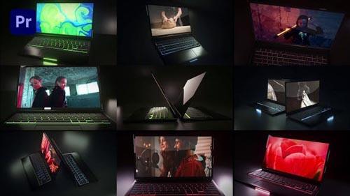Videohive - Dark Laptop Mockup - 31995438