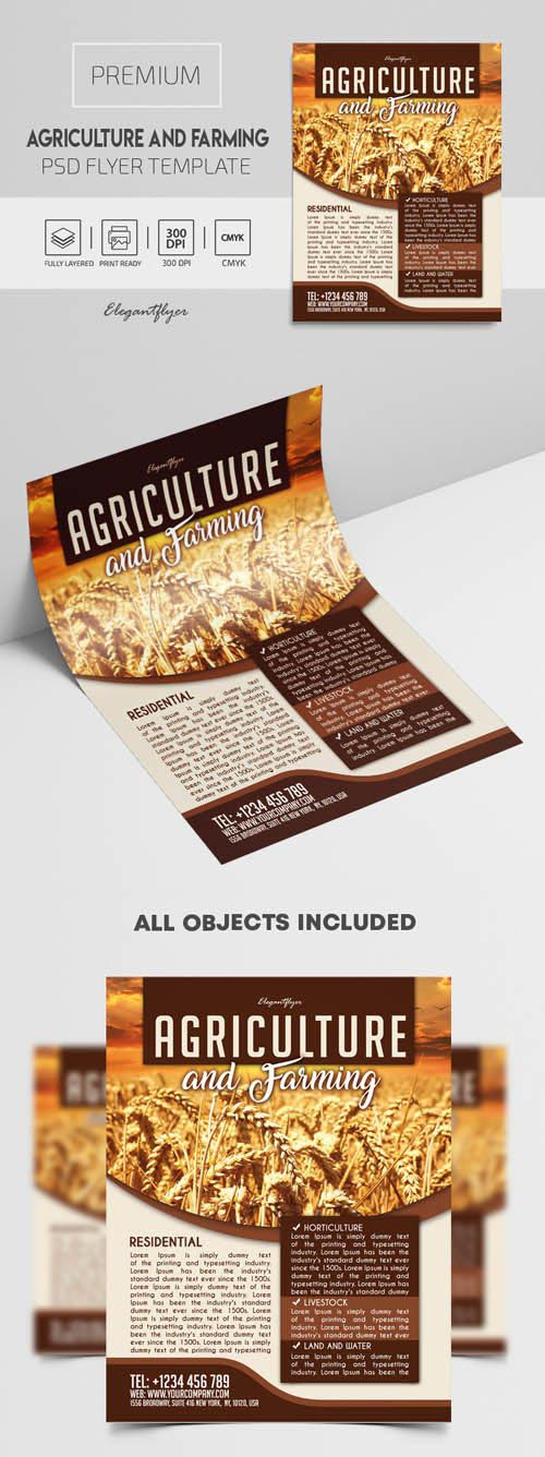 Agriculture and Farming Premium PSD Flyer Template
