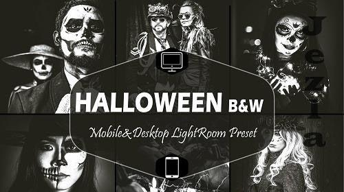 10 Halloween B&W Mobile & Desktop Lightroom Presets - 1590662
