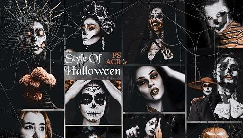 10 Style Of Halloween Photoshop Actions And ACR Presets - 1588760