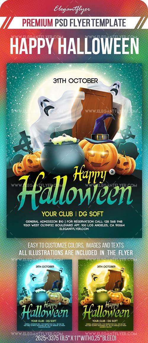 Happy Halloween Flyer PSD Template vol 5