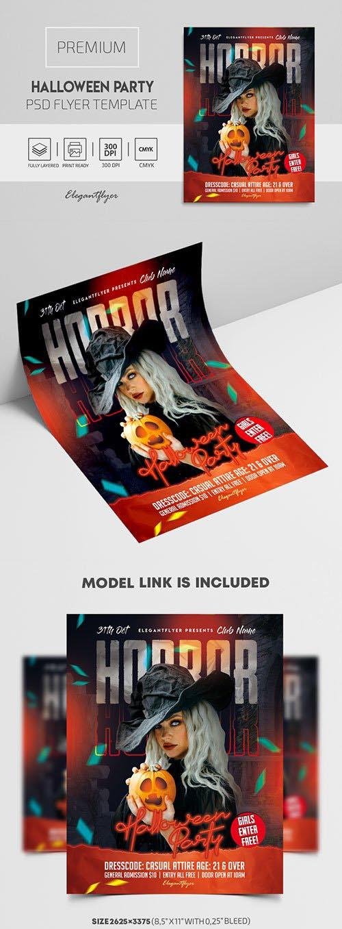 Halloween Horror Party Premium PSD Flyer Template