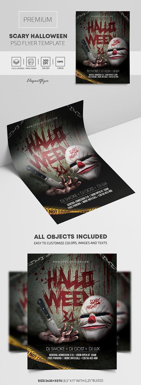 Scary Halloween Premium PSD Flyer Template