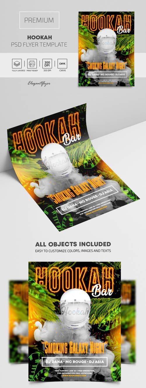Hookah Premium PSD Flyer Template