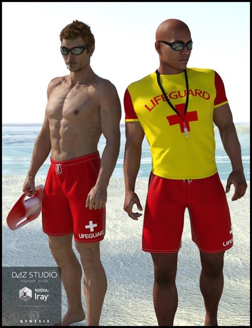 Lifeguard Uniform for Genesis 3 Male(s)