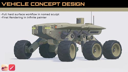Gumroad - Vehicle Concept Design in NomadSculpt by Fred Dupere