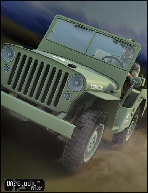 WWII Jeep [ Iray UPDATE ]