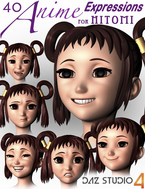 40 Anime Expressions for Hitomi