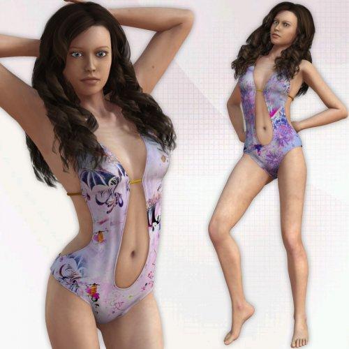 Messy Art Swimsuit for V4(Poser)