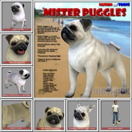 Mister Puggles for Poser (N1MGEO08-POS)