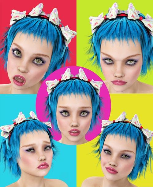 i13 Hiya Doll Expressions