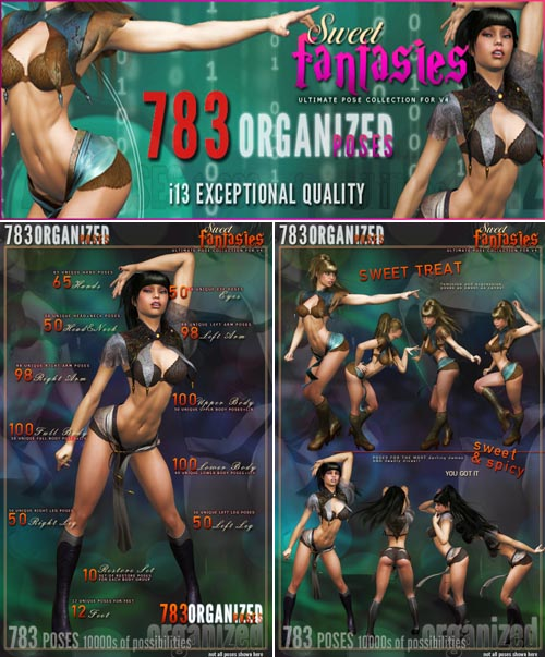 i13 Sweet Fantasies pose collection for V4