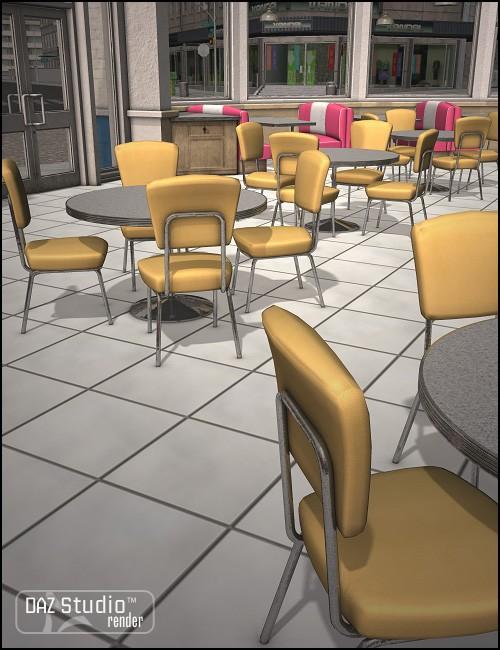 Moonlit Moonshine's Diner Interior Bubblegum