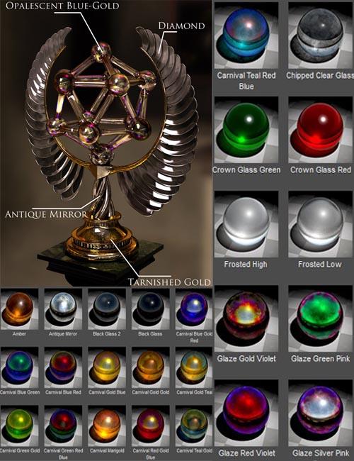 Metalized Glass Shaders for DAZ Studio