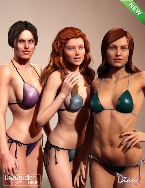 Heroine String Bikini Textures