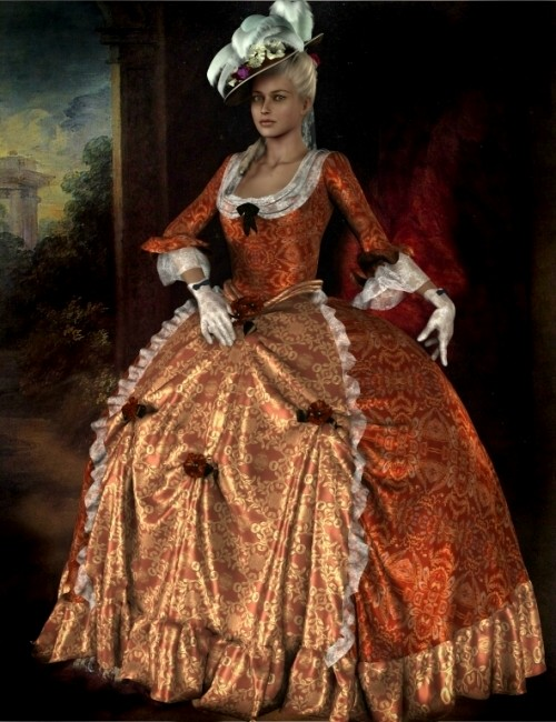 Marie Louise 18th Century Gown