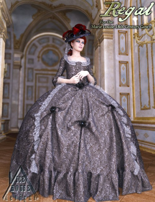 Regal for the Marie Louise 18th Century Gown