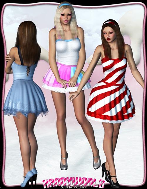 Kandyworld: Outfit for V4