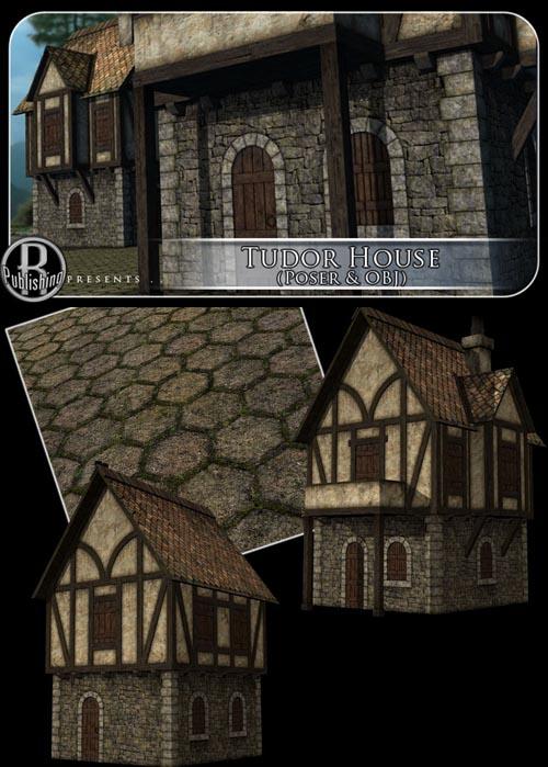 Tudor House (Poser & OBJ)