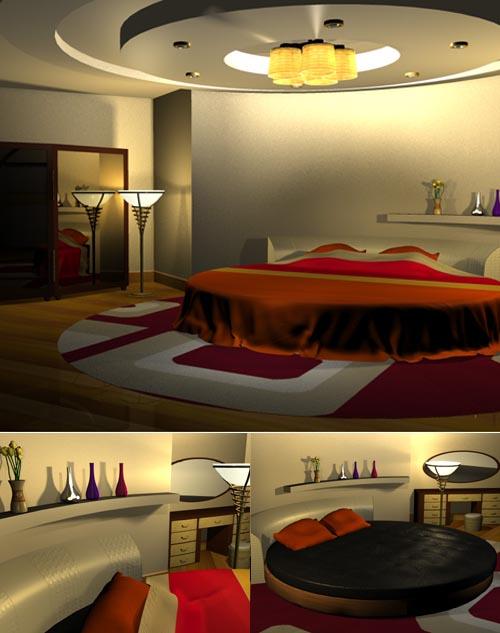 Round bedroom