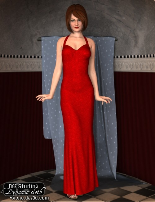 Red Carpet Evening Gown for DS
