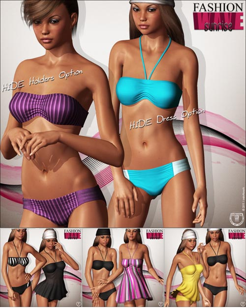 FASHIONWAVE Sunrise Bikini for V4 A4 G4