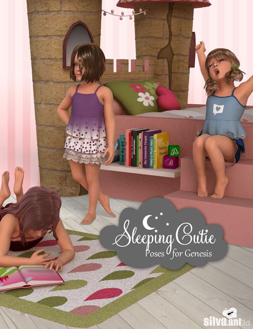 Sleeping Cutie Poses for Genesis
