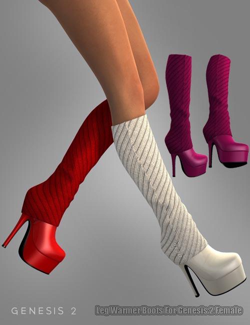 Leg Warmer Boots For Genesis 2 Female(s)